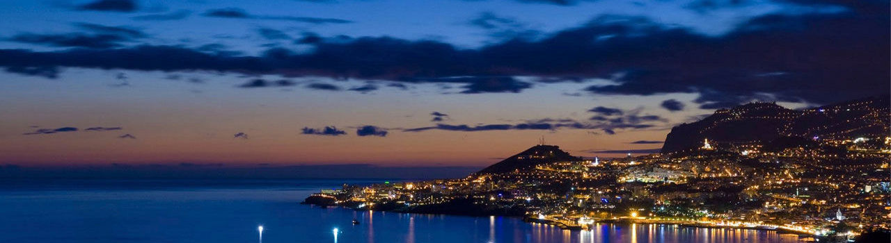 View of Funchal by night