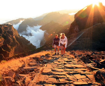 A couple hiking in Madeira