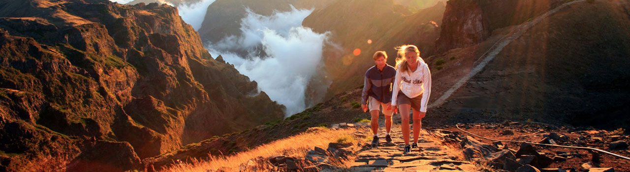 couple Hiking in Madeira