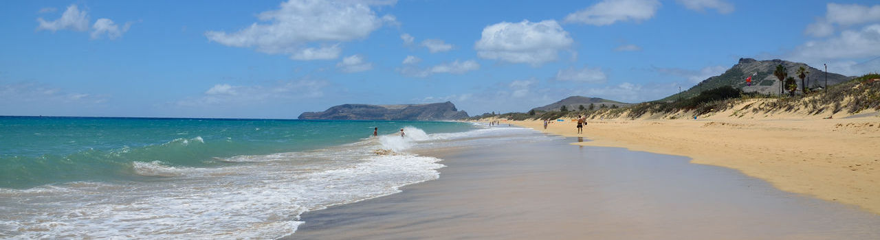 Porto Santo Golden sand beach